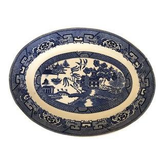 Vintage Blue Willow Platter For Sale
