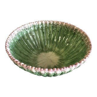 Contemporary Fitz and Floyd Asparagus Ironstone Serving Bowl For Sale