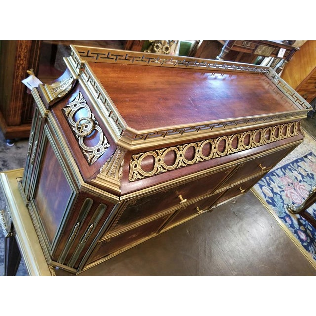 19th Century Louis XVI Style Desk by Paul Sormani For Sale In Dallas - Image 6 of 13