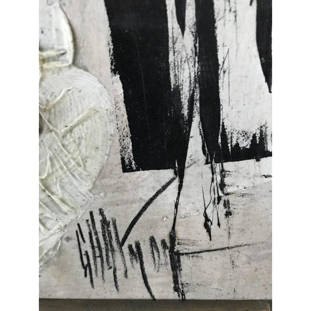 1960s Vintage Graham Harmon Black and White Abstract Painting For Sale In Los Angeles - Image 6 of 8