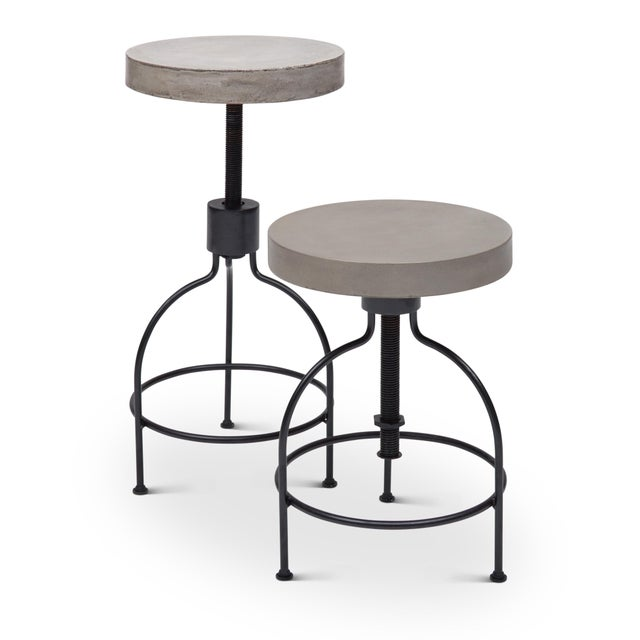 Gray Screwy Stool in Dark Gray For Sale - Image 8 of 8