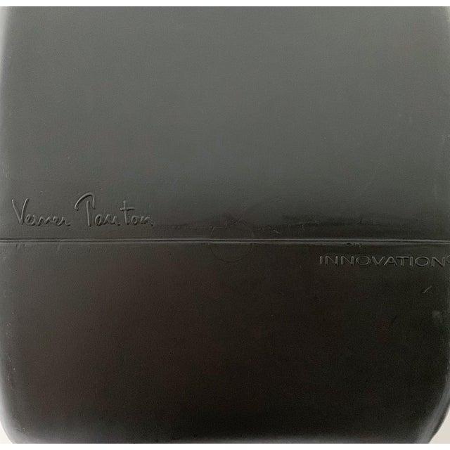 Plastic 1990s Vintage Verner Panton Black Phantom Chair For Sale - Image 7 of 11