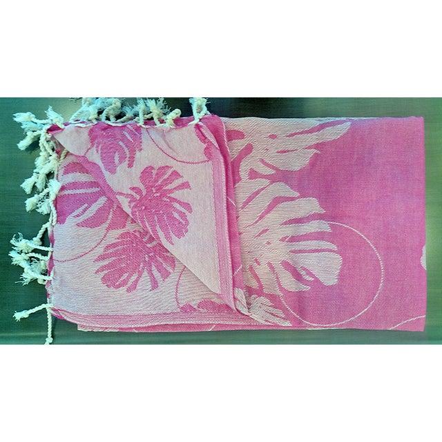'Rio' Fuchsia Cotton Throw/Towel - Image 4 of 6