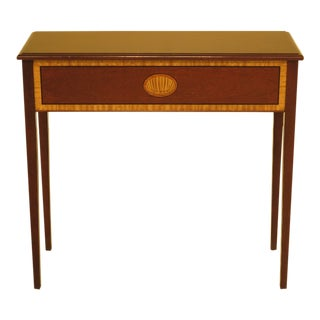 1990s Traditional Tradition House Inlaid Mahogany Console Table For Sale