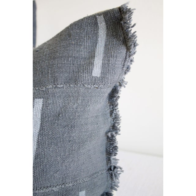 Vintage Mud Cloth Standard Sham Pillows in Gray Blue SKU Number: 5052-01572 Description: Vintage mud cloth standard sham...