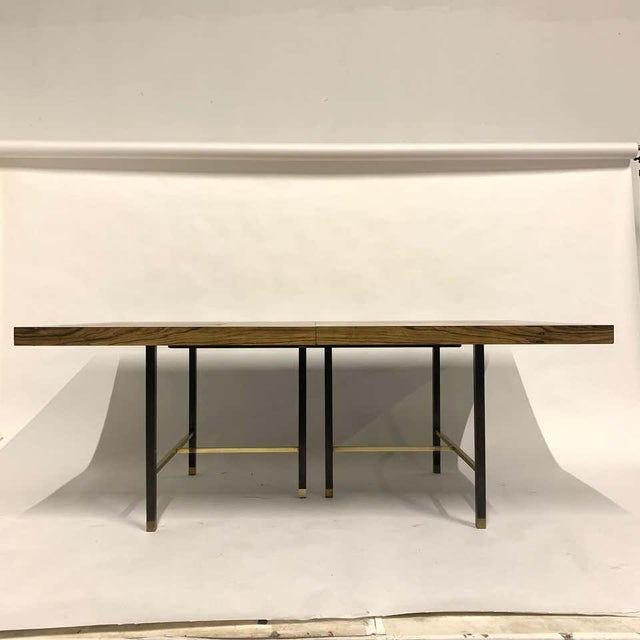 Harvey Probber Sculptural Floating Dining Table in Rosewood, Brass and Mahogany For Sale - Image 9 of 13