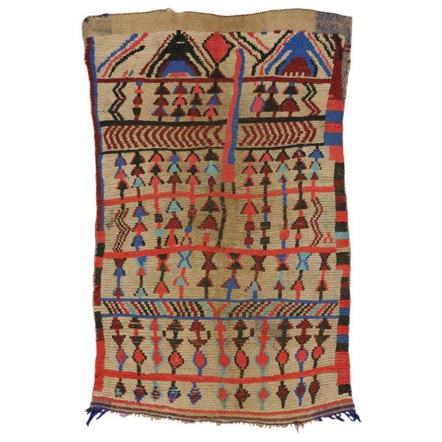 Vintage Mid-Century Berber Moroccan Rug - 4′7″ × 6′9″ For Sale