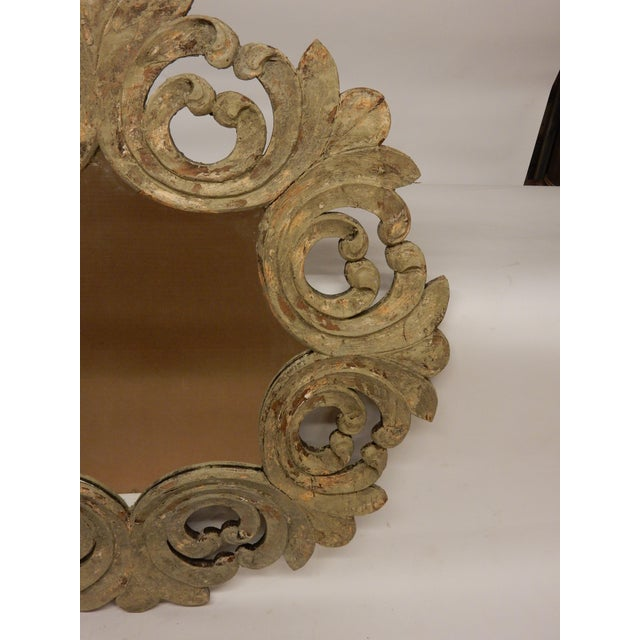 19th Century 19th Century Italian Rococo Painted Mirror For Sale - Image 5 of 7