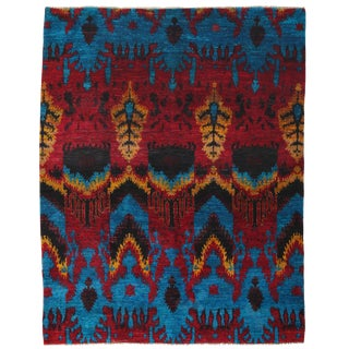 """Modern, Hand Knotted Area Rug - 7' 10"""" X 10' 1"""" For Sale"""
