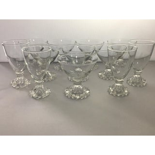 Vintage Anchor Hocking Clear Glass Boopie Glasses - Set of 12 Preview