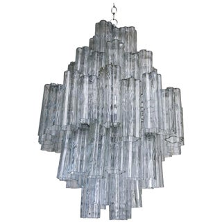 Italian Murano Venini Tronchi Chandelier For Sale