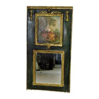 Antique Regency Trumeau Mirror For Sale