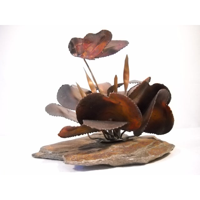Copper and Slate Butterfly Sculpture - Image 6 of 8