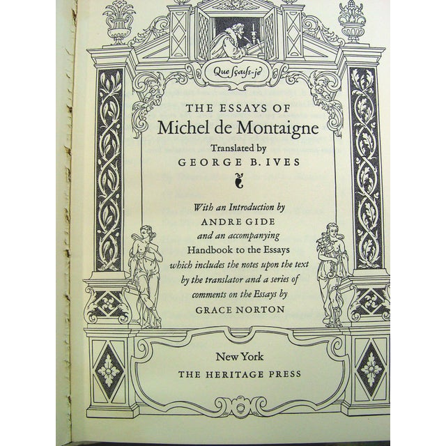 Vintage 'The Essays of Montaigne' Books - Set of 3 - Image 4 of 4