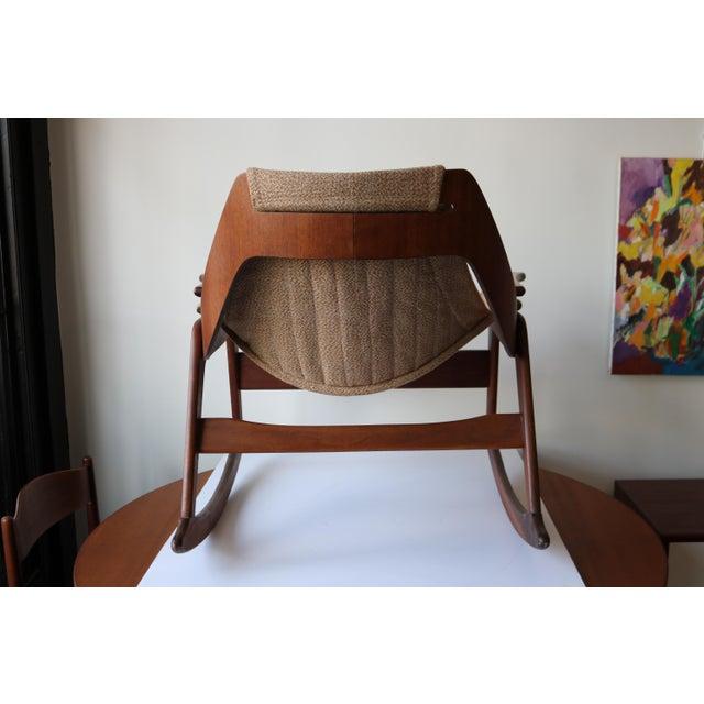 1970's Boho Jerry Johnson Sling Rocking Chair - Image 7 of 8
