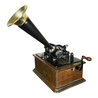 1898 Antique Edison Standard Phonograph For Sale