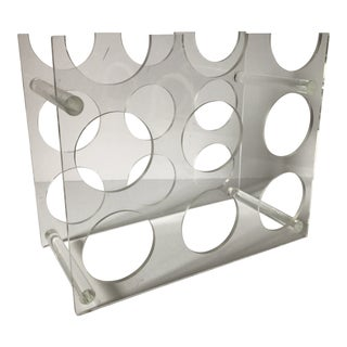 Mid Century Lucite Wine Rack For Sale