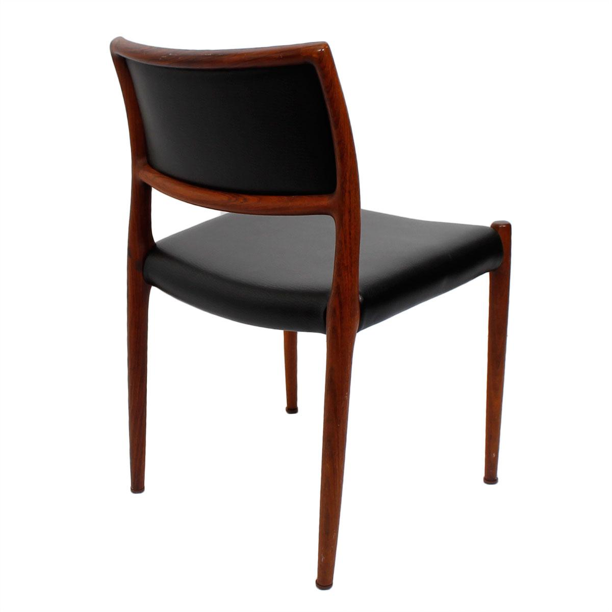Rosewood Niels Moller #80 Dining Chairs   Set Of 4   Image 4 Of 5