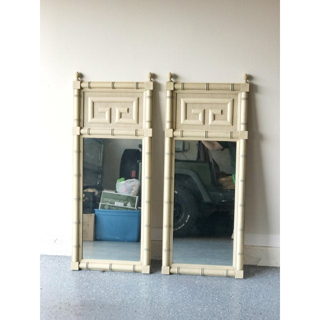 Asian Dixie Furniture Greek Key Mirrors - A Pair For Sale - Image 3 of 6