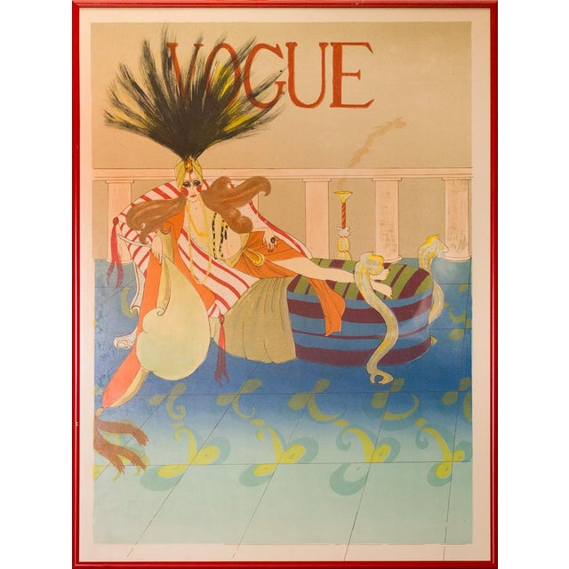 Vintage Framed Vogue Poster - Image 1 of 3