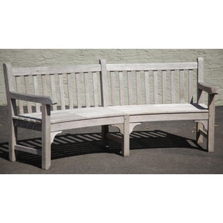 Country Casual Vintage Solid Teak Long Curved Patio Bench Preview