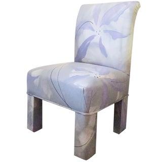1970s Vintage J. Robert Scott Postmodern Parsons Dining Chair For Sale