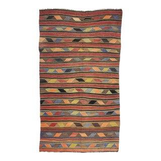 Vintage Turkish Wool Kilim Rug For Sale