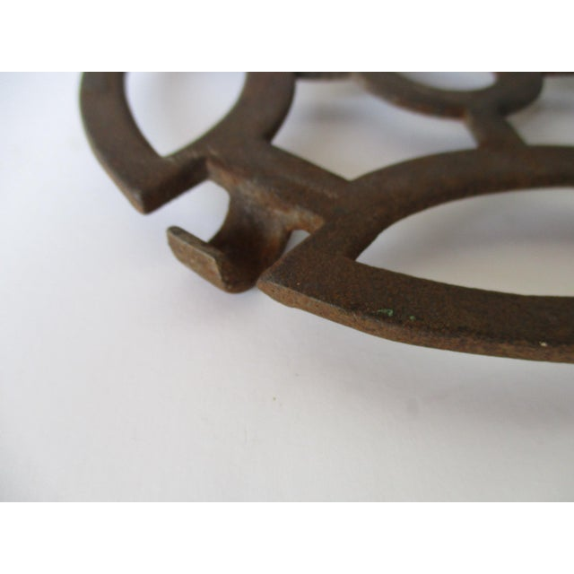 Abstract Modern Cast Iron Garden Decoration or Trivet - Image 3 of 6