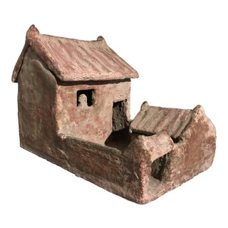 Han Dynasty Architectural Pottery Model of a House with Removable Roof For Sale