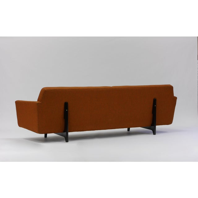 Mid-Century Modern Pair of Bracket Back Sofas by Edward Wormley for Dunbar For Sale - Image 3 of 8