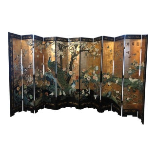 Circa 1980 Chinese Divider From White Swan Hotel, China For Sale