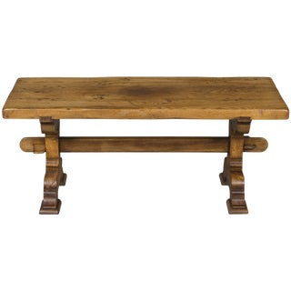 1900s Rustic French Country Oak Coffee Table