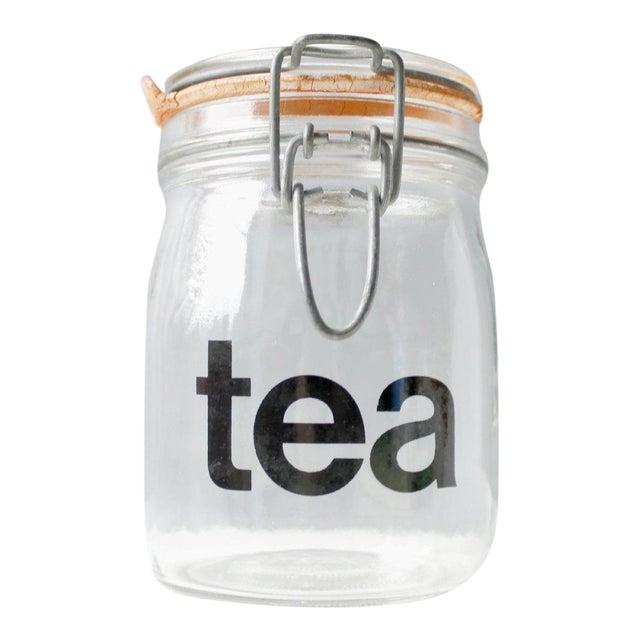 Mid-Century Vintage Glass Tea Jar - Image 1 of 5