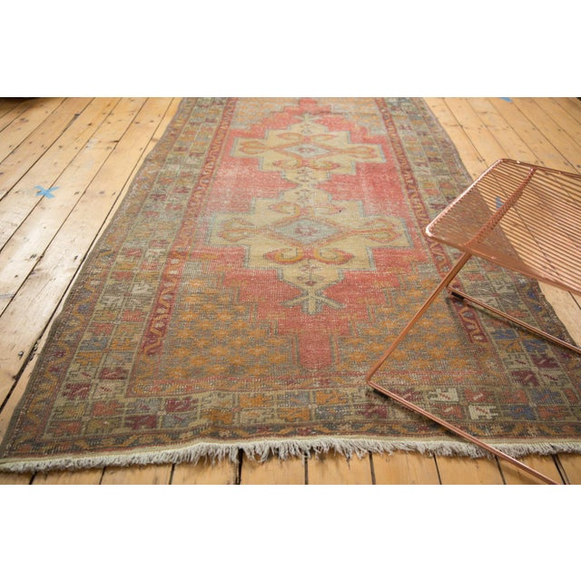 "Islamic Vintage Distressed Oushak Rug - 4'7"" x 8'4"" For Sale - Image 3 of 11"