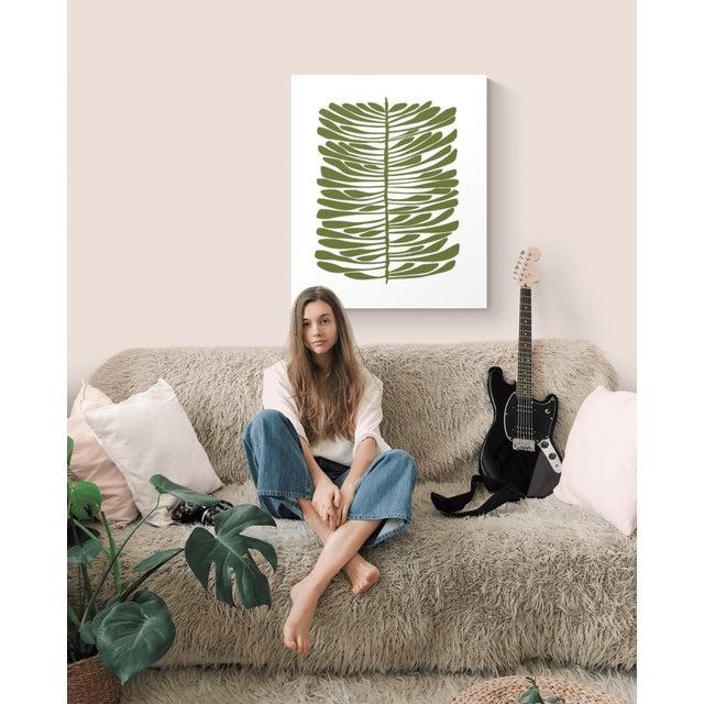 Mid-Century Modern Green Hawaiian Pine Canvas Print For Sale - Image 3 of 4