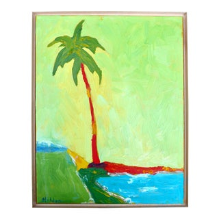 """Contemporary """"California Palm"""" Oil Painting by Martha Holden For Sale"""