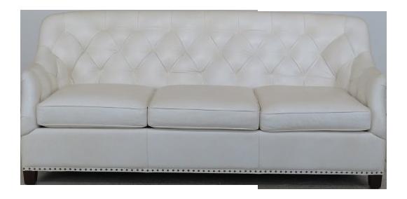 Wonderful Hancock U0026 Moore White Tufted Leather Sofa