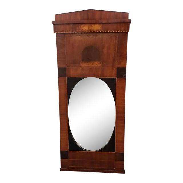 Early 19th Century Walnut & Mahogany Biedermeier Mirror C.1830s For Sale