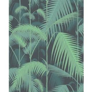 Cole & Son Palm Jungle Wallpaper Roll - Green/Black For Sale