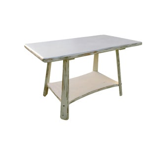 Rock Maple Coffee Table and Pair Side End Tables Vintage Maple Country Cottage Painted End Tables & Coffee Tables Nightstands For Sale