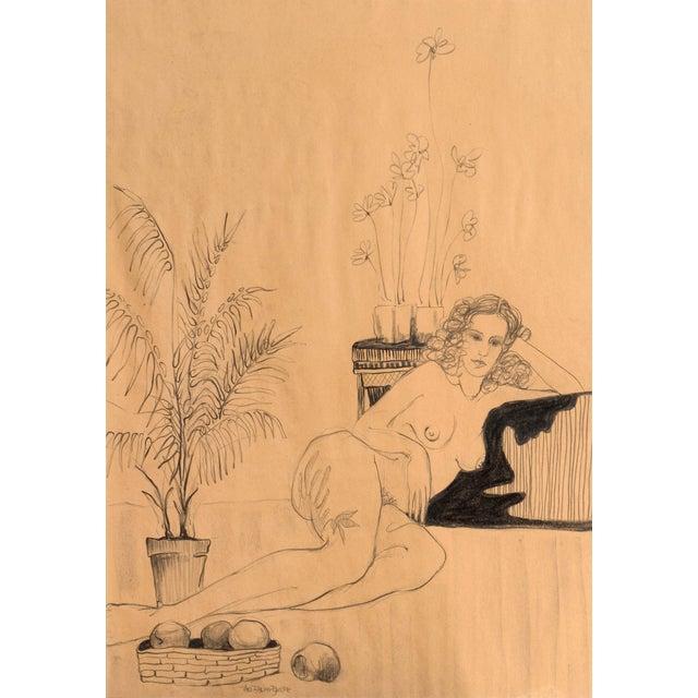 Fabian Becker Reclining Nude Drawing - Image 1 of 6