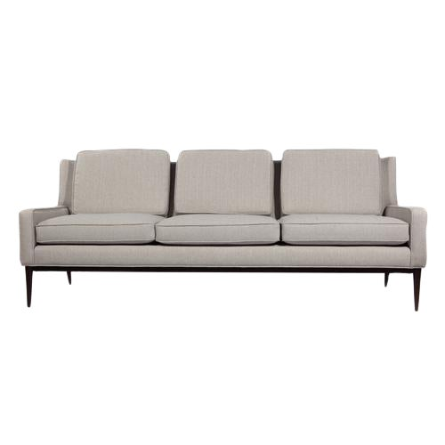 1950'S VINTAGE PAUL MCCOBB FOR DIRECTIONAL THREE-SEAT SOFA For Sale