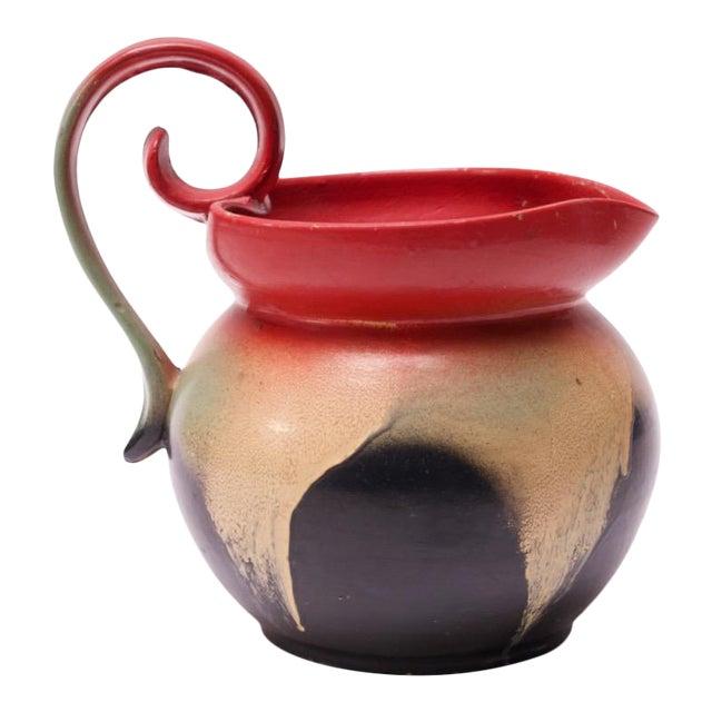 Mid-Century Dutch Hand-Painted Ceramic Decorative Pitcher For Sale
