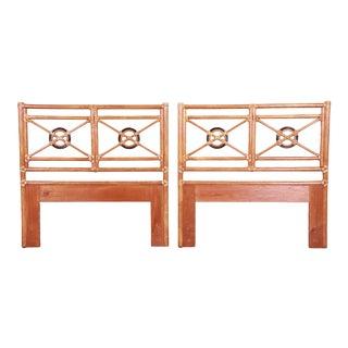 McGuire Organic Modern Bamboo Rattan Twin Headboards, Pair For Sale