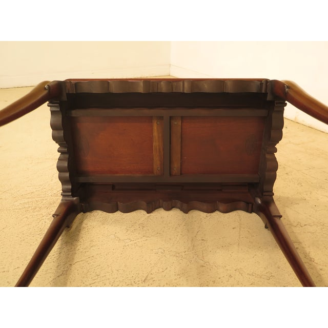 Brown Henkel Harris Queen Anne Mahogany Tea Table For Sale - Image 8 of 10