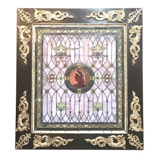 Vintage Stained Glass Window #1 For Sale