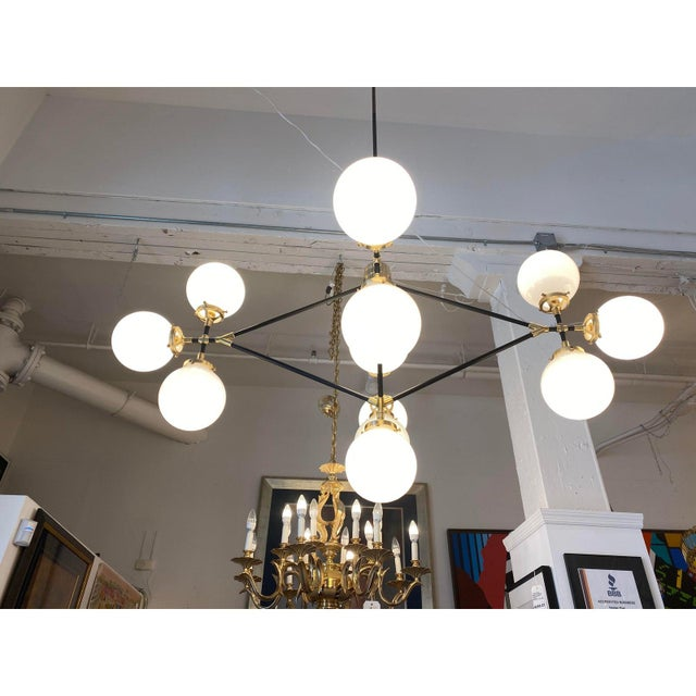 White Visual Comfort Ian K. Fowler Bistro Four Arm Chandelier For Sale - Image 8 of 11