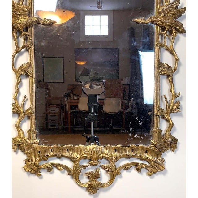 Glass George II Chinese Chippendale Wall Mirror For Sale - Image 7 of 13
