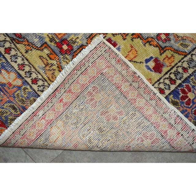 """Antique Turkish Rug Lion Pattern Hand Knotted SuperLow Pile Wool Wall & Area Rug Rare Piece- 4'1"""" X 6' For Sale - Image 9 of 11"""