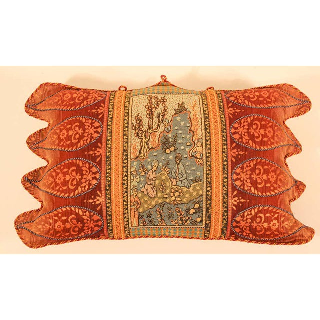 French Middle Eastern Decorative Throw Pillow For Sale - Image 3 of 11